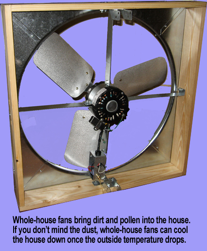 Air-Swap is less expensive to install that a whole-house fan. 303-761-0729